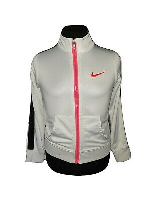 Girls NIKE Dri-Fit Full Zip Track Top Age 6-7 Years