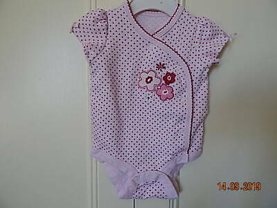 Matalan Baby Girls Pink Spot Flower Decorated Playsuit 0-3 Months