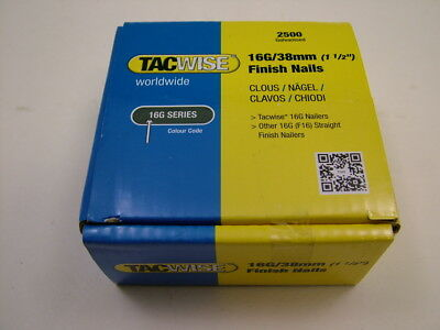 2nd fix collated straight brad nails Tacwise brand 16 gauge 38mm box of 2500