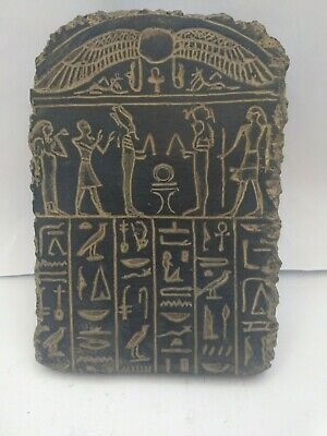 RARE ANCIENT EGYPTIAN ANTIQUE RAMSES  and Horus Stela Stella 1620-1425 BC