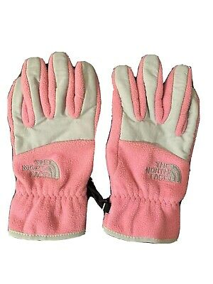 The North Face Girls Gloves Pink Medium