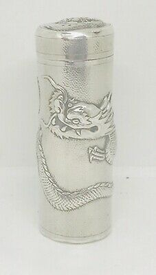 Rare Chinese export  sterling solid silver Sugar caster  ,  hallmarked