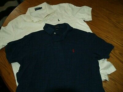 Lot Of 2~Mens~Polo By Ralph Lauren~Polo Shirts~Sz Xl~S/S~Rl~Dress Comfort