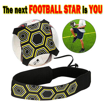 Soccer Football Kick Throw Trainer Solo Practice Training Aid Control Skill Best