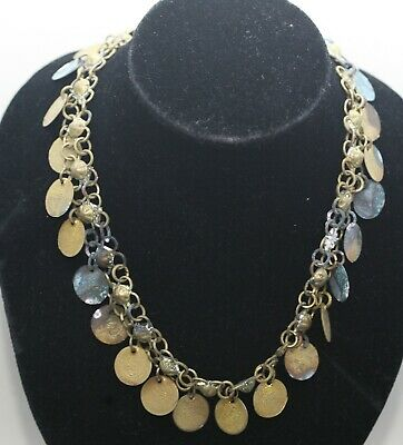 Antique Middle Eastern Necklace Made Of Brass Coins Age Unknown