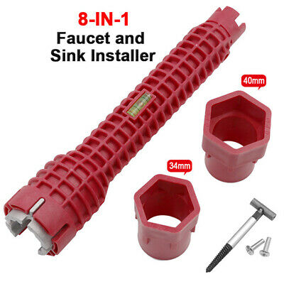 8 In 1 Faucet and Sink Installer Wrench Plumbing Tool Water Pipe Spanner 2020 US
