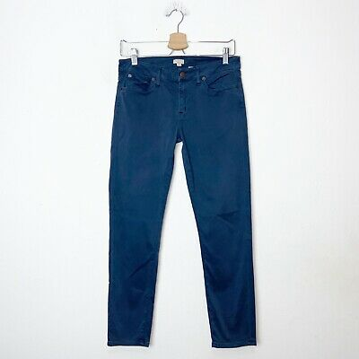 J Crew Blue Sateen Stretch Skinny Ankle Pants Womens Size 27
