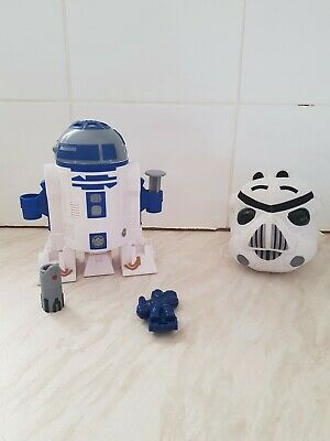 Star Wars R2d2 Playdoh Set And Angry Birds Storm Trooper Plush Used