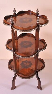 Stunning etagere is LouisXV style, nice marquetry, c. 1900