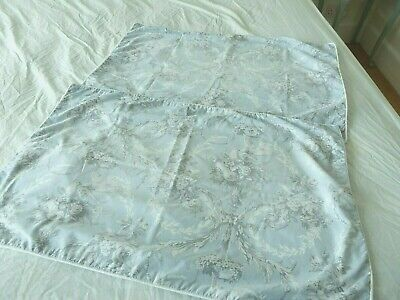 M&S French Style Pale Blue Scrolls Birds Florals Pair Piped Pillowcases 29 x 19""
