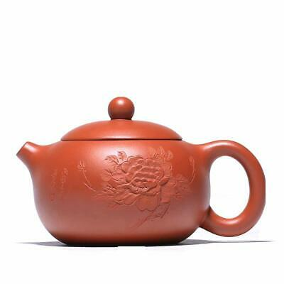 Chinese Yixing Teapot 200ml Zisha Clay Handmade Penoy Xishi Tea Pot Zhu Mud 朱泥茶壶
