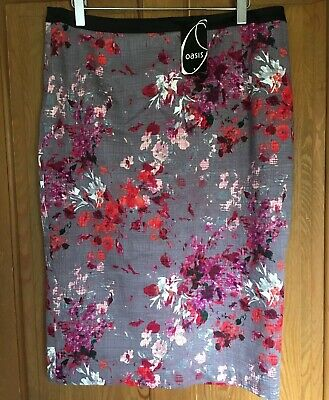 Oasis Skirt Size 14 Brand New With Tags Cotton