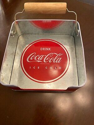 Coca-Cola Tin Napkin Holder with Contour Bottle Spinner Weight Drink Coca-Cola