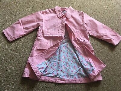 Girls, BNWOT, Pink, M&S, Button, Pocket, Floral Lining, Mac. Age 5-6yrs