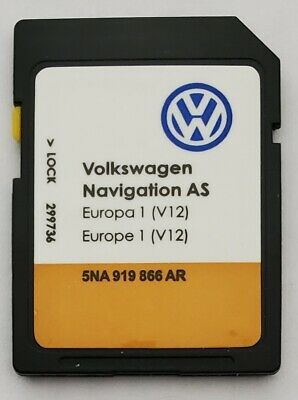 Carte SD Europe - Navigation AS - VW Discover Media 2 MIB2 - v12 - 5NA919866AR