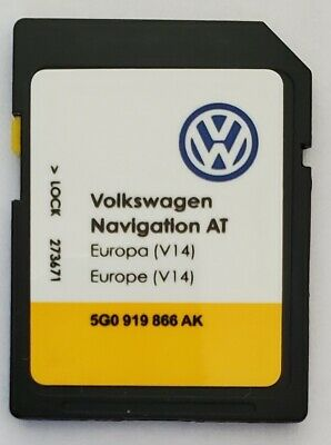 Carte SD Europe - Navigation AT - VW Discover Media 1 MIB1 - v14 - 5G0919866AK