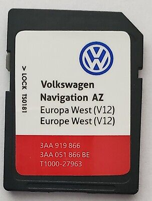 Carte SD VW GPS Europe Ouest 2020 V12 - RNS 315