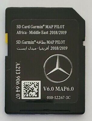 Carte SD GPS MERCEDES (Star2) GARMIN MAP PILOT Africa Middle East 2018-2019 v6