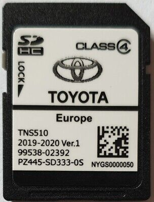 Carte SD GPS Europe TNS510 Toyota 2019-2020 Ver.1 - PZ445-SD333-0S