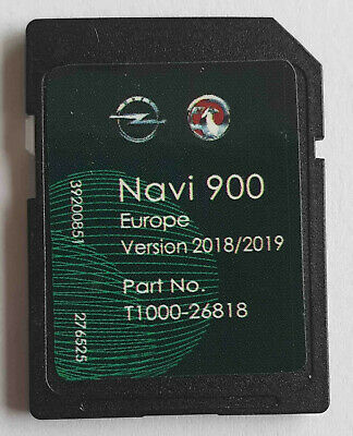 Carte SD GPS Opel NAVI600 NAVI900 Europe 2018 2019