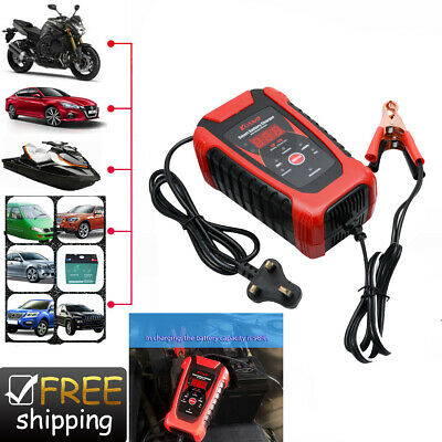 Smart Car Battery Charger 6V 12V Intelligent Automobile Motorcycle Pulse Repair