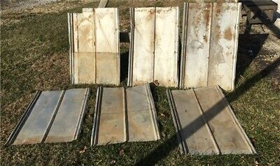 6 Sheets Weathered Barn Tin, Reclaimed Roof, Farmhouse Architectural Salvage g,