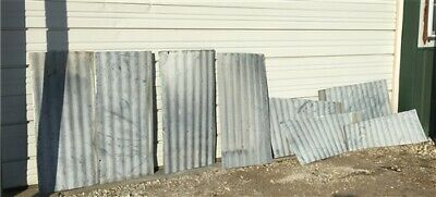 8 Galvanized Tin Sheets, Roof Ceiling Sink Backsplash, Architecture Salvage b