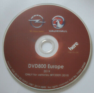 DVD Original GPS Europe Opel 2019 DVD800 - MY09