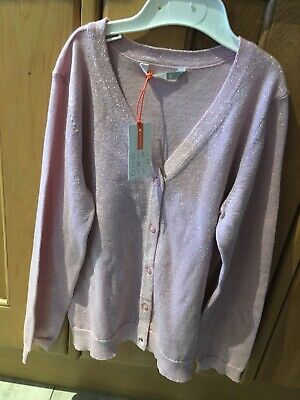 John Lewis Girls Lurex Cardigan Size 8 Years Sparkly