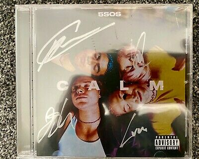 FIVE SECONDS OF SUMMER - Calm Cd Signed Autographed 5SOS