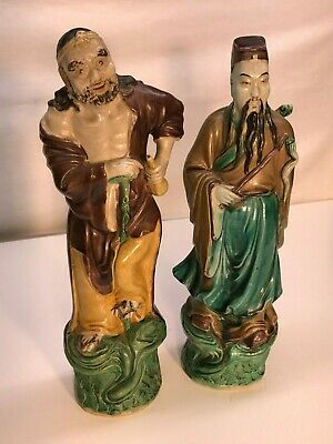 2 Vintage Chinese Porcelain figurines Old China