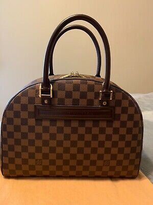 AUTH Louis Vuitton Damier Ebene Nolita Hand Bag with Dust bag Made In France