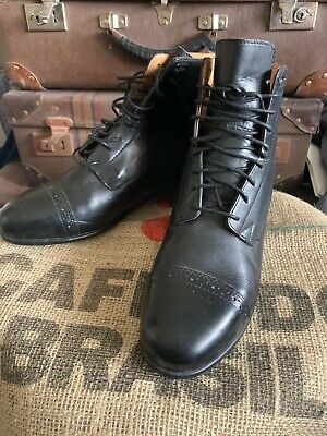 ARIAT SCOUT PADDOCK RIDING BOOTS BLACK LEATHER size 6 1/2 B / UK 4 M/EUR 36 1/2