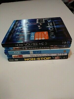 Blu-Ray Lot 5 Movies Used No DVDs Or Digital Bluray Only