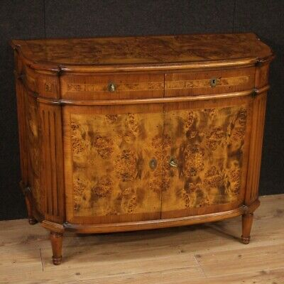 Cupboard Furniture Dresser Wooden Walnut Antique Style Living Room Italian 900