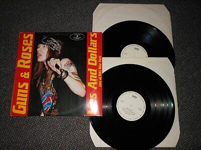 Guns & Roses 2 Lp Lies And Dollars Live At The Ritz New York Rare Nm Slash