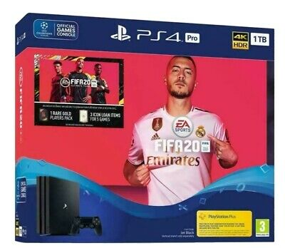 Sony PS4 Pro 1TB & Fifa 20 Bundle Sony PS4 Pro 4K HDR Console Brand New & Sealed