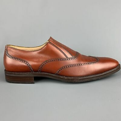 ARTHUR BEREN for GRAVATI Size 11 Brown Perforated Leather Wingtip Loafers