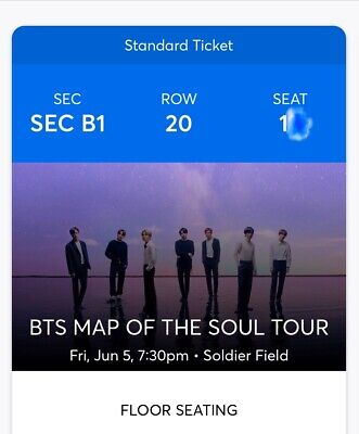 FLOOR SEATS!! 2 Tickets BTS - Bangtang Boys 6/5/20 - Soldier field, Chicago IL