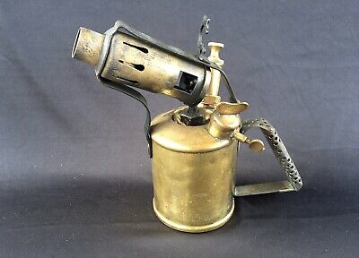 Antique brass blow torch Primus brand made in Australia by authority of Max S