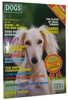 Dogs Monthly Illustrated Magazine Saluki  Cover +Articles May 1996