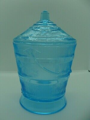 EAPG   Bryce Brothers Glass Co's Blue Wooden Pail Sugar