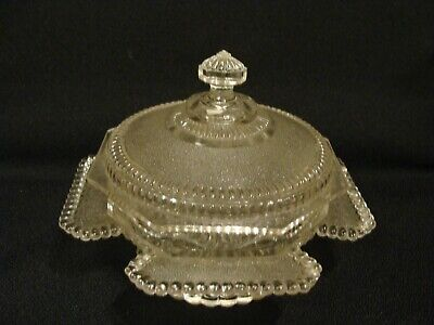 EAPG    Bryce Brothers Glass Co's Albion Butter Dish