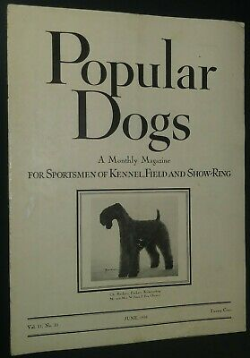 Popular Dogs Kerry Blue Terrier Cover by Romaine June + Tauskey Poodle 1938