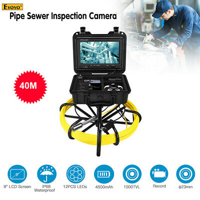 9600A 40M 8GB DVR Video Endoscope System Cleaner 1000TVL Waterproof Sewer Camera
