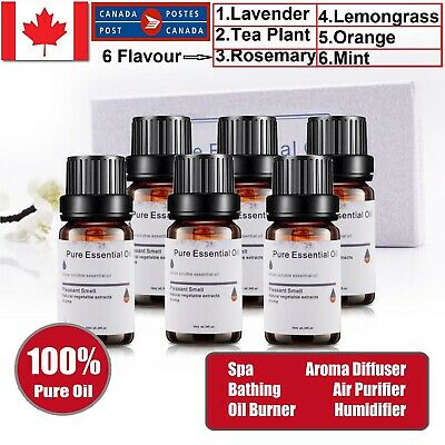Essential Oil 100% Pure & Natural Aromatherapy Diffuser Aroma Oils Fragrance CA