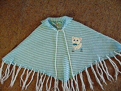 Vintage Child's 1960s-1970s Poncho Super Cute
