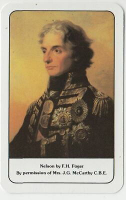 Q356  Vintage Swap Card lord nelson painting by Fuger