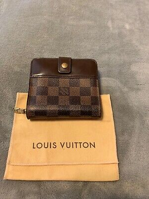 AUTH Louis Vuitton Damier Ebene Short Wallet with Dust Bag Made in Spain