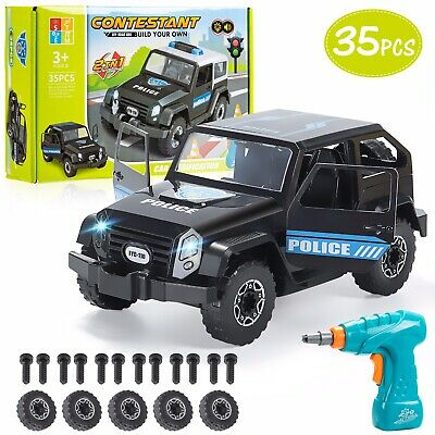 Stem Children's DIY 2 In 1 Toy- Take Apart/ Build Your Own Police Car With Drill